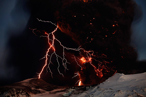 Eyjafjällajokull volcan erupción