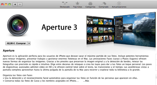 Apple Aperture 3 Mac App Store
